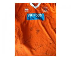 Official signed Blackpool FC shirt