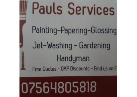 Pauls services/ decorating