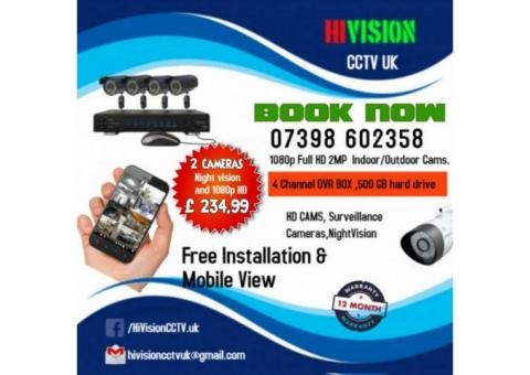 CCTV Camera for Residential or Commercial Properties including free installation within 50 miles.